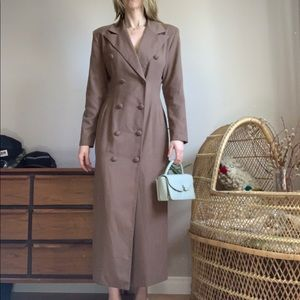 🌵HostPick🌵Neutral Tone Full Length Blazer Dress